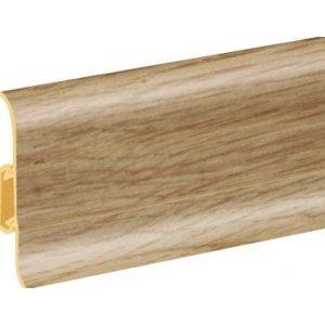 Плинтус Cezar Premium Bambus Tajski пластиковый с кабель-каналом (матовый) 59х22х2500