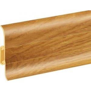 Плинтус Cezar Premium Дуб Alabama пластиковый с кабель-каналом (матовый) 59х22х2500