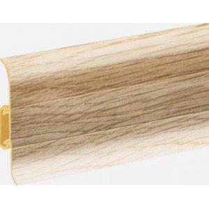 Плинтус Cezar Premium Дуб Alcanta пластиковый с кабель-каналом (матовый) 59х22х2500