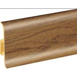Плинтус Cezar Premium Горіх пластиковый с кабель-каналом (матовый) 59х22х2500