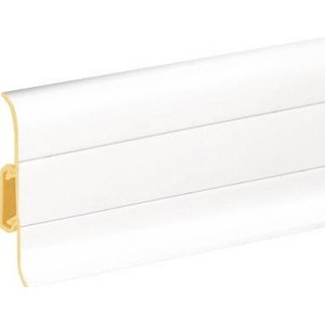 Плинтус Cezar Premium Білий пластиковый с кабель-каналом (матовый) 59х22х2500